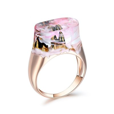 Mountain Peak Resin Ring