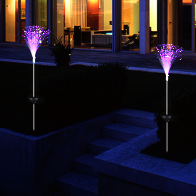 Optical Fiber Light Garden RGB LED Lamps, 2pcs