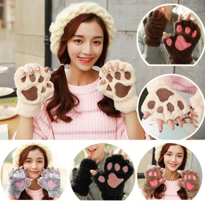 Adorable Bear Claw Mittens To Growl Your Way Into Your Loves Life