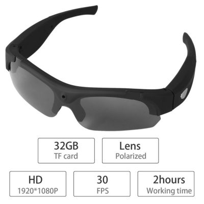 1080P HD Video Recording Interchangeable Polarized Sunglasses for Mac and Windows