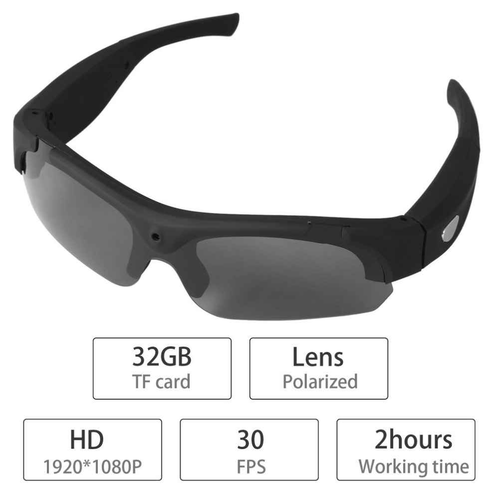 bb26de3aefca 1080P HD Video Recording Interchangeable Polarized Sunglasses for Mac and  Windows