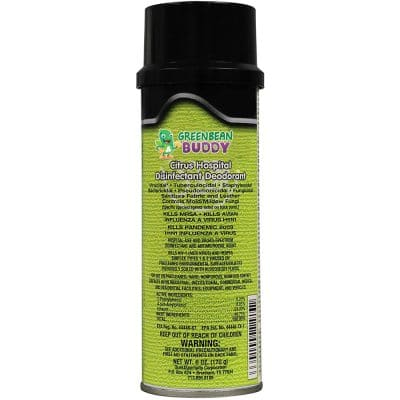 Influenza, Tubercule, E-Coli, Herpes Simplex, Staph, Disinfectant Sanitizer, Mold & Mildew, 6oz Aerosol for Room