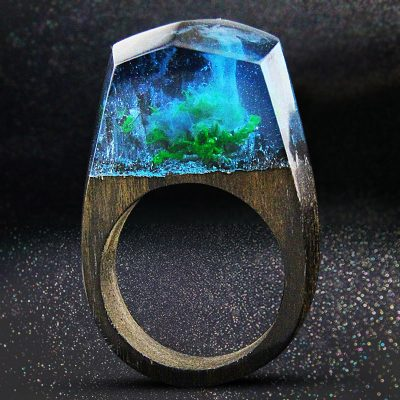 Enchanted Forest Hand Crafted Resin Ring For Women
