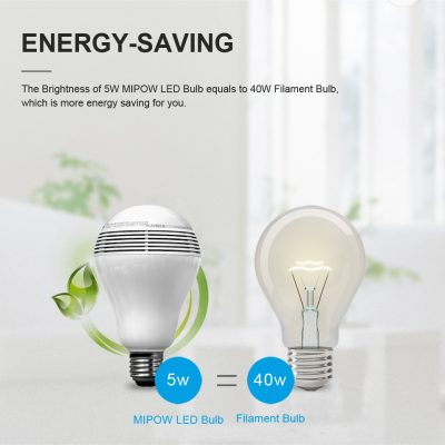 Playbulb Bluetooth Indoor Smart Speaker RGB LED Light