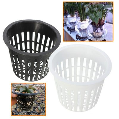 Hydroponic Planting Net Trays, 10 pieces (black or white)