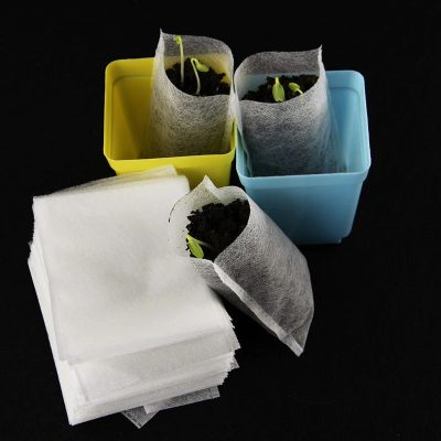 Fabric Seedling Bags for Grow Kits, 100 bags