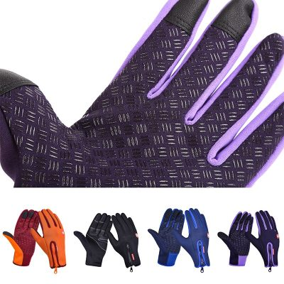 Windproof Touch Screen Fleece Cycling Gloves and Outdoor Ski Gloves for Men and Women