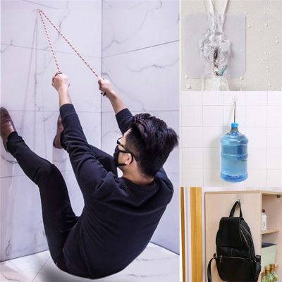 Super Strong Multi-Purpose Transparent Suction Cup with Wall Hooks, 6 pieces