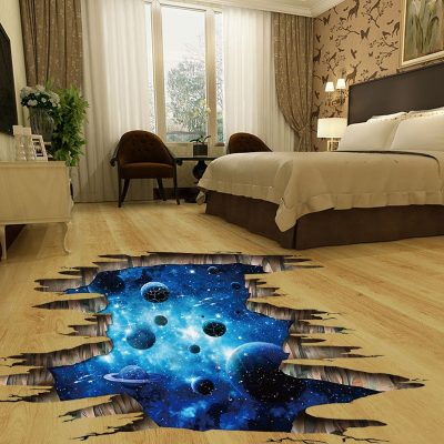 Cosmic Space Illusion Wall and Floor Decor Stickers