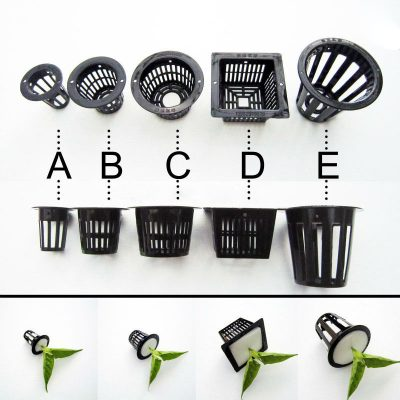 Hydroponic Seed Pots, 10 pieces (black)