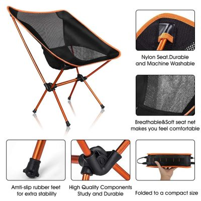 Portable Outdoor Folding Chair for Beach, Fishing, Patio, Camping and More