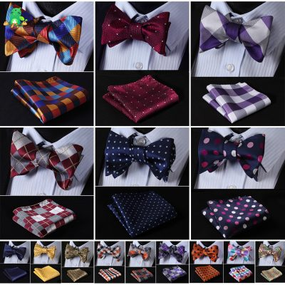 Mens Fashionable BowTies and Matching Handkerchief