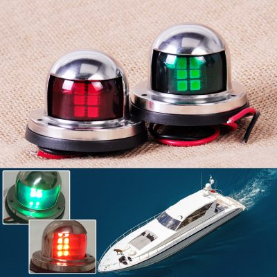 Stainless Steel 12v Bow Navigation Marine Lights, 1 Pair