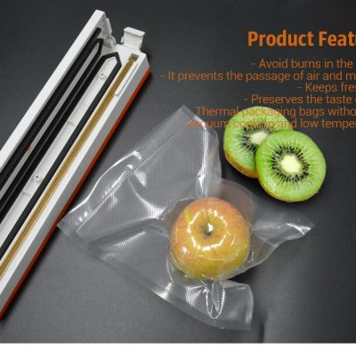 Food Vaccuum Sealing Baggies BPA Free, 5 Rolls Set