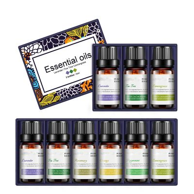Essential Oils for Aroma Therapy Humidifiers, Lavender, Tea Tree, Rosemary, Orange, Peppermint, Lemongrass