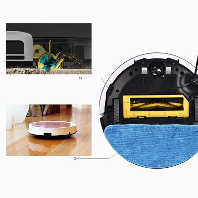 Robotic Vacuum Cleaner with Wet Mop and Self Charging