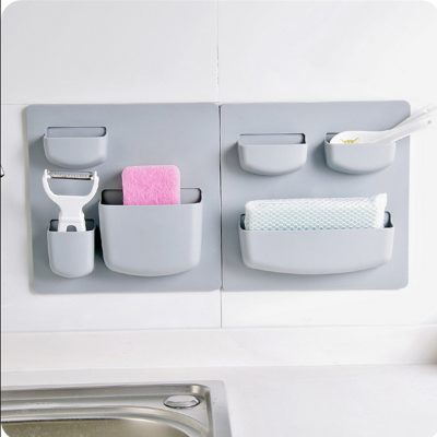 Easy Press Home and Bath Wall Organizer