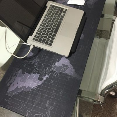 Desk Size Mouse Pad of World Map