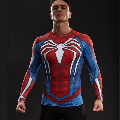 Spiderman Compression Shirt with Sleeves