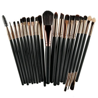 Professional Makeup and Powder Brush Set, 20 items