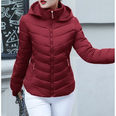 Designer Plus Size Womens Parkas Hooded Coat