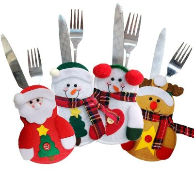 Christmas Silverware Holders, Santa, Rudolph, Snowman and More