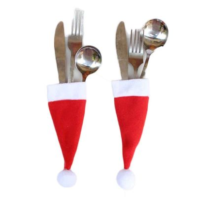 Christmas Silverware Holders