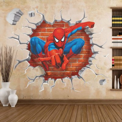 3D Wall Sticker Of Spiderman