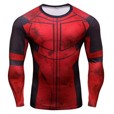 3D Super Hero Long Sleeve Athletic Shirts
