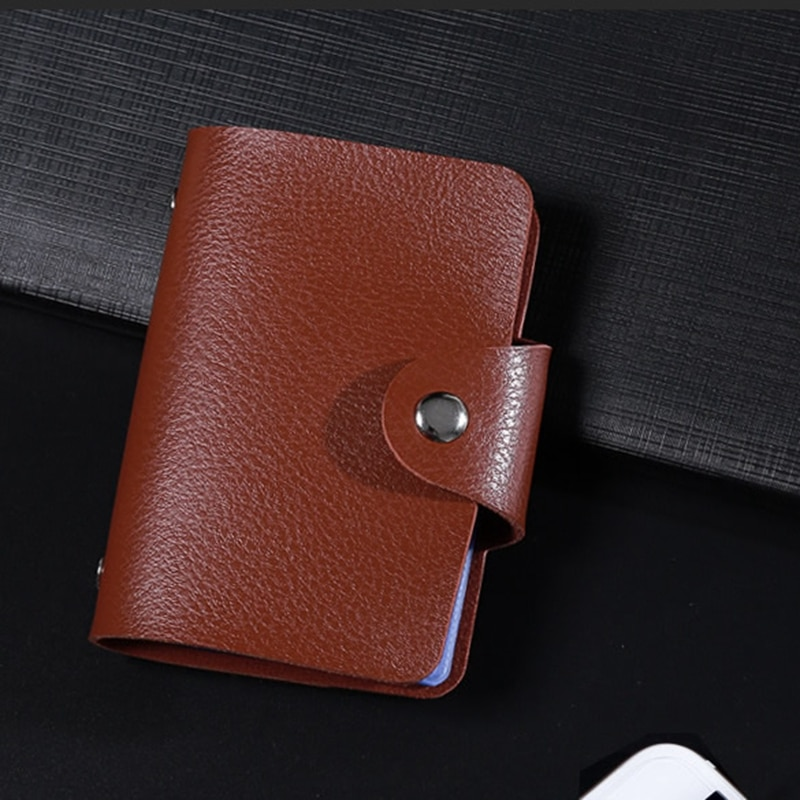 leather business card case and holder for executives and