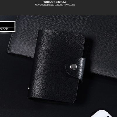 Executive Leather Business Card Case and Holder