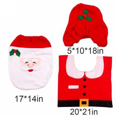 Santa Clause Toilet Covers and Christmas Bathroom Rug