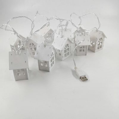 Miniature Christmas Village Set with LED Lights