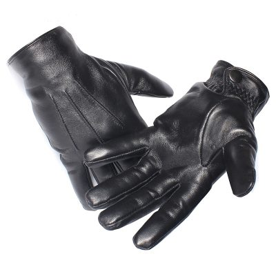 Designer Leather Sheepskin Winter Gloves for Men and Women
