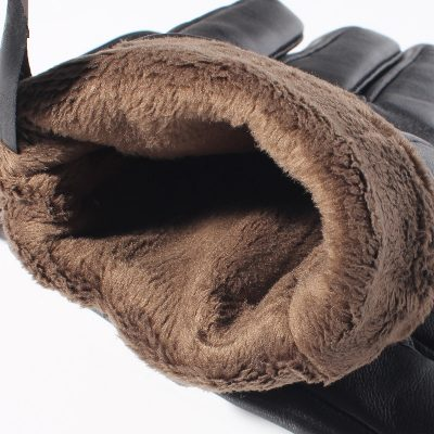 Leather Sheepskin Winter Gloves
