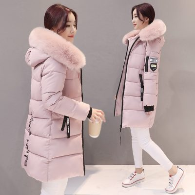 Casual Long Hooded Cotton Parka for Women