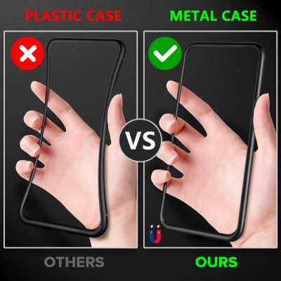 Anti Shock Magnetic Metal Phone Protector Case