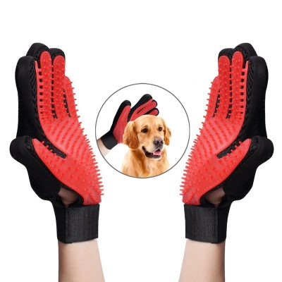 Gentle Deshedding Brush Comb Gloves for Pets