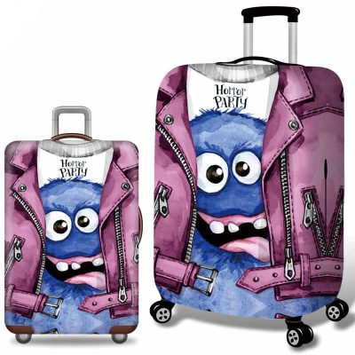 Adorable Monsters Design Luggage Cover