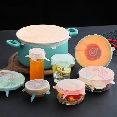 6 Pcs/ Set Universal Reusable Food Silicone Cover