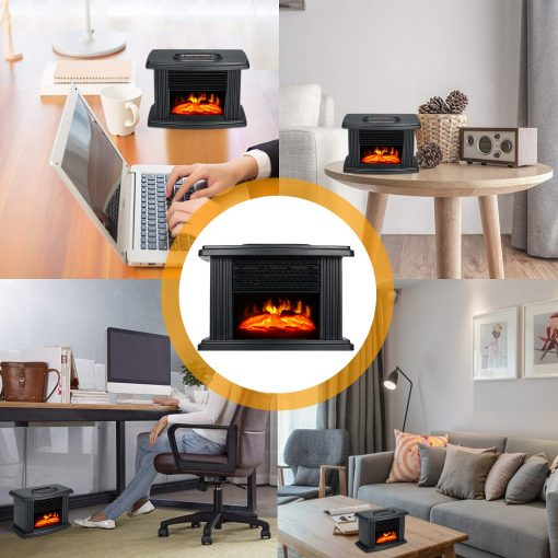 portable electric fireplace for home office